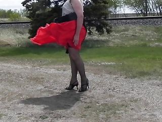Sissy Ray In Roadside Rest Area