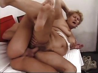 Bbw Hairy Granny With Big Boobs Gets Fuck