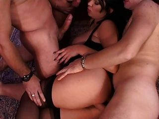 Three Guy And One Girl Get Wild