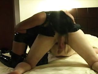 Slut In Pvc For Perfect Rimjob