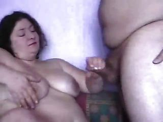 Bbw Jerks Off Her Husband