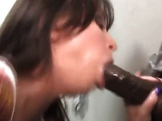 Beautiful Babe Gloryhole Big Black Cock Facial Cumshot