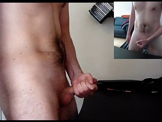 Wanking With Lots Of Cum (dual View And Moaning)