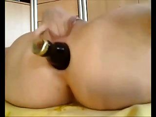 Amateur - Hot Pussy & Ass Bottle Fucking