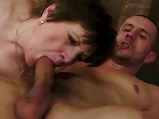 Hairy Mature With Saggy Tits Fucked