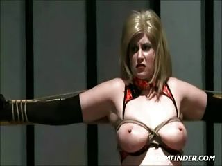 Bound Milf Spanked And Toyed