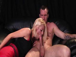 Brit Slut Catches Boyfriend Wanking To Porn