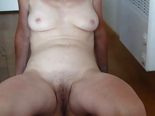 Spread My Hairy Pussy And Show My Tits