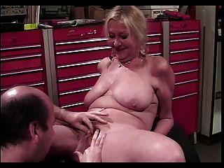 Granny Mechanic Anastasia Tightens His Bolts