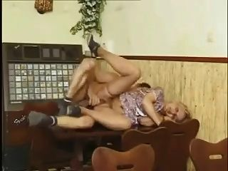Granny Gets Banged On The Table !