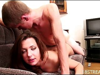 Sexy And Wild Couch Humping