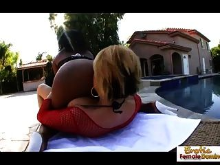 Dirty Lesbians Go Wild In Some Outdoor Action