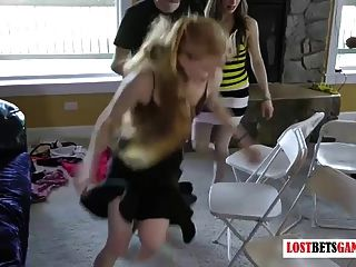 Strip Musical Chairs With Seven Girls And Three Guys
