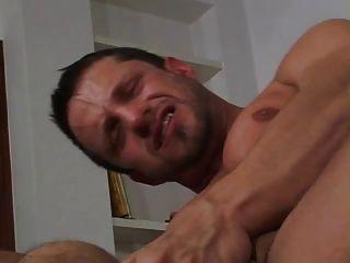 2 Big Dicks In His Ass
