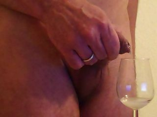 Foreskin -  Shot Soft Cock In Wine Glass - Drinking