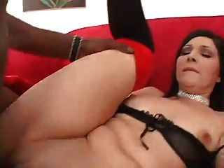 Milf In Red Gloves Pleases Bbc