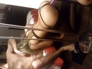 Sexy Blonde Sucking Cock And Riding A Dildo