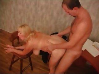 Big Tit Mature Blonde Fucks Agent
