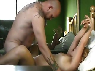 Hot Chubby Blonde With Tattooed Man