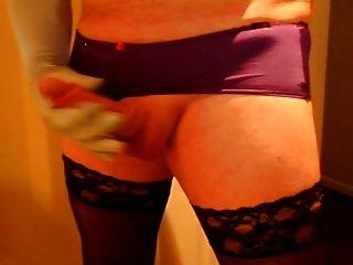 Stockings, Panties, Gloves & Cum