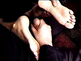 Footjob With Mature