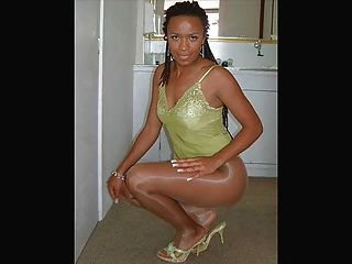 Ebony Legs In Pantyhose Part5