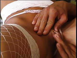 Blonde Chick In Nylons Gets Her Ass Pounded