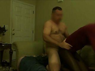 White Dude Pounds Long Black Tranny