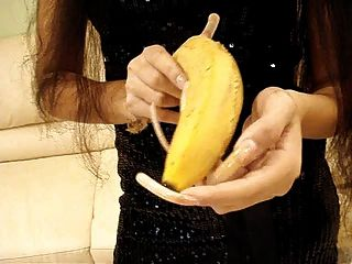 Long Natural Nails Slice A Banana
