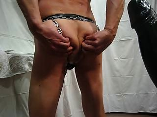Chains Around My Ass And Fucking A Gian Dildo Part I