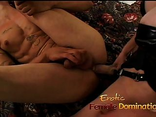 Slave Gets Pegged And A Blowjob From His Horny Mistress