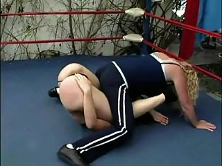Blonde On Brunette Humiliation