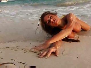 Brooke Tessmacher (adams) Naked On The Beach