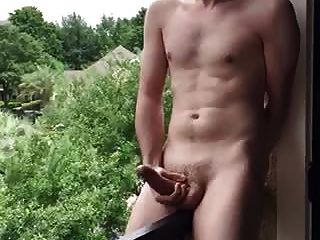 Wank On Balcony