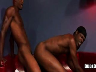 Couple Of Black Twinks Riding On Cocks