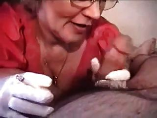 Gloved Granny Suks