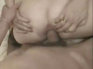 French Granny Take A Big Cock In Her Ass And Facialized