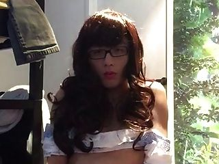 Sweet Sissy Jerking In Front Of Camera