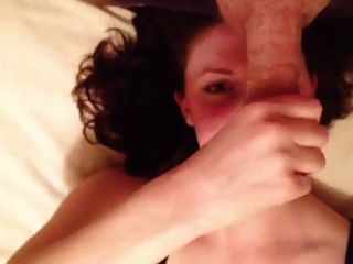 British Girlfriend Wanking Me Off On Bed