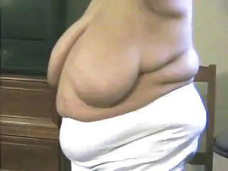 Bbw Granny Breast Play