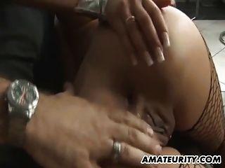 Busty Amateur Teen Girlfriend Anal Fuck With Cum On Ass