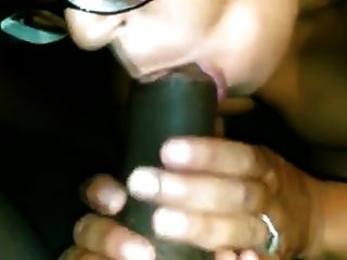 Ebony Milf Black Blowjob In Glasses