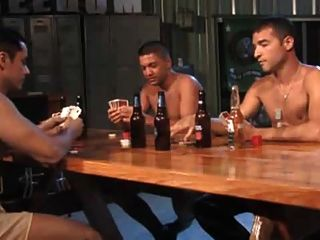 Army Strip Poker Threesome.