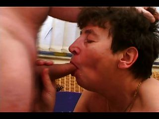 Hot Granny Gets A Hard Cock In Her Hairy Pussy