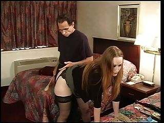 Star In Nylons Spanked By Her Master