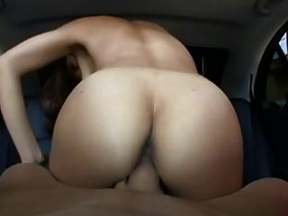Asian Rides Cock In Car
