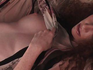 Hot Redhead Scarlett Keegan Loses Her Clothes