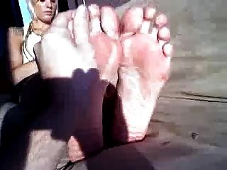 Tall Blonde With Big Feet - Part 1