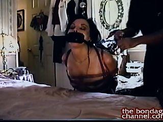 Brunette Bound In Her Bedroom