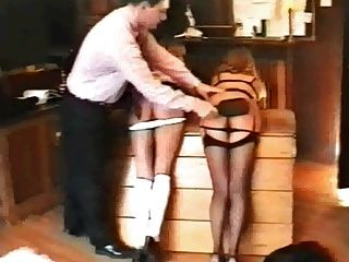 Naughty Schoolgirls Arse Spanked!